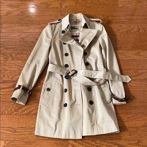Burberry tan trench coat
